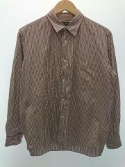 マルチストライプシャツ/長袖シャツ/M/コットン/RED/ストライプ/型番:HO-B024