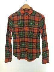 長袖シャツ/150cm/コットン/ORN/チェック/ネルシャツ