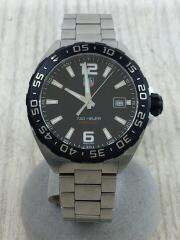 クォーツ腕時計/アナログ/ステンレス/BLK/SLV/ダイバーズ FORMULA1 フォーミュラ1