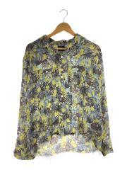 C.O Bottom One-Up Shirts Floret/長袖シャツ/S/ポリエステル/イエロー/総柄