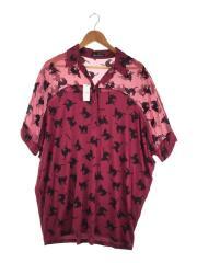 レーヨンシャツ/バルーンシルエット/0124CH01/半袖シャツ/FREE/レーヨン/ボルドー