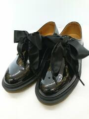 PATENT LAMPER/リボン/ショートブーツ/US6(23cm)/ブラック/エナメル/1461B