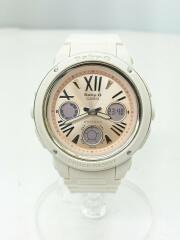 Baby-G/BGA-152-7B2JF/クォーツ腕時計/デジアナ/ラバー/ピンク/ホワイト