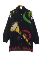 used clothing/90s/総柄カーディガン/厚手/ウール/マルチカラー