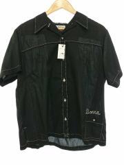 半袖シャツ/ブラック/無地/ヴィンテージ/古着/70s