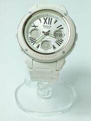 カシオ/クォーツ腕時計・Baby-G/デジアナ/ホワイト/