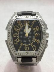 university/クォーツ腕時計/アナログ/ステンレス/ブラック