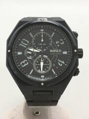 ワイアード/クォーツ腕時計/アナログ/ステンレス/ブラック/7T92-0PD0