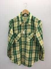 ネルシャツ/ビックマック/M/コットン/グリーン