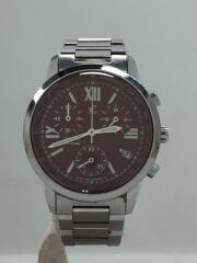 クォーツ腕時計/シチズン/アナログ/F500-T002382/レッド