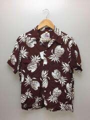アロハシャツ/カハナモク/M/レーヨン/ブラウン/DK36201