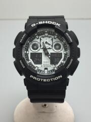 クォーツ腕時計・G-SHOCK/カシオ/ジーショック/GA-100BW/デジアナ/ブラック