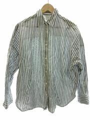 長袖シャツ/スピックアンドスパン/19050200109110/コットン/ブルー/ストライプ柄
