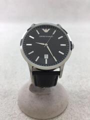 クォーツ腕時計/エンポリオアルマーニ/AR-2411/アナログ/ブラック