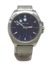 クォーツ腕時計/アナログ/ステンレス/BLU/SLV/F335-T021522