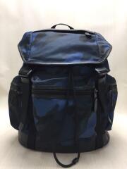 リュック/ナイロン/BLU/カモフラ/F54783