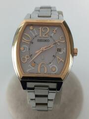 LUKIA/1B22-0BB0/ソーラー腕時計/アナログ/PNK/
