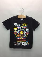 Tシャツ/110cm/コットン/BLK