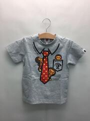 Tシャツ/110cm/コットン/GRY