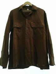 Open Collar Shirt/38/レーヨン/BRW/KS9FSH03