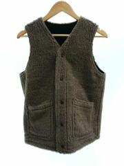 RV ARMY LEATHER VEST/38/HORSEHIDE/ALPAKA WOOL
