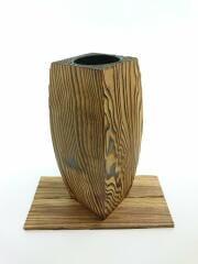 花瓶/焼杉花器