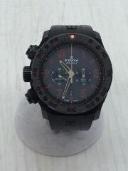 クォーツ腕時計/アナログ/BLK/BLK/ICEMANⅡ/替えベルト付