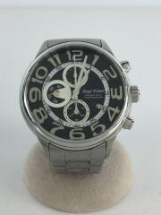 クォーツ腕時計/--/ステンレス/BLK/SLV/ケース付
