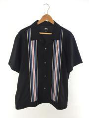 半袖シャツ/L/コットン/BLK