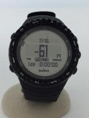 クォーツ腕時計/デジタル/ラバー/BLK