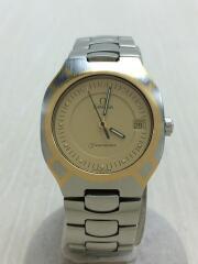 80~90s/SEAMASTER POLARIS 1/クォーツ腕時計/アナログ/ステンレス/GLD/SLV///、/SEAMASTER/シーマスター//53760355