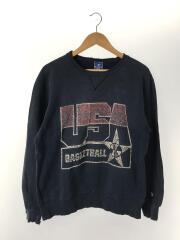スウェット/L/コットン/NVY/care on reverse/80s/USA刺繍/チャンピオン/USA製