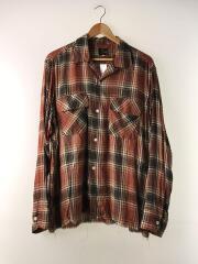 長袖シャツ/L/レーヨン/BRW/19SS/Cut-Off Bottom Classic Shirt