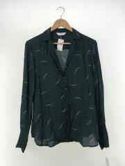 YAYA women(ヤヤ)Pajama shirt/長袖ブラウス/36/レーヨン/GRN/パジャマシャツ