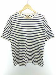 Tシャツ/--/コットン/NVY/ボーダー/半袖/カットソー