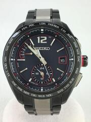ソーラー腕時計/アナログ/ステンレス/BLK/8B63-0AS0