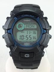 ソーラー腕時計・G-SHOCK/デジタル/ラバー/BLU/BLK