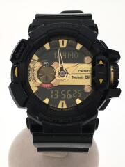 クォーツ腕時計・G-SHOCK/デジアナ/GLD/BLK/Bluetooth対応