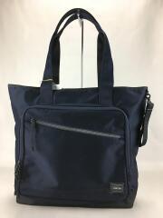 FRONT TOTE BAG(L)/687-17025/トートバッグ/NVY/タグ付/鞄/バッグ/ネイビ