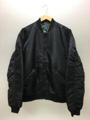 L/リバーシブルMA-1ジャケット/ミリタリージャケット/ナイロン/黒/A1732050