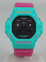 G-SHOCK Psychedelic Multi Colors クォーツ DW-5900DN-3JF/ミント ピンク