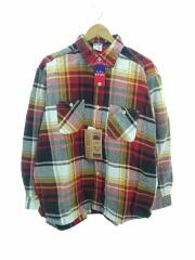 size M/×YOUNG & OLSEN ヘビーチェックネルシャツ/レッド