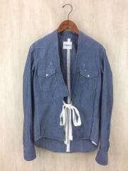 17SS/haori cowboy shirt長袖シャツ/46/コットン/BLU/羽織/ウエスタン/ウェスタン/