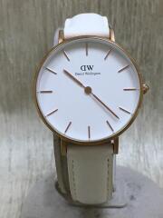 Daniel Wellington/ダニエルウェリントン/クォーツ腕時計/アナログ/レザー/ホワイト