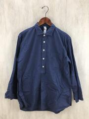MHL./エムエイチエル/L/長袖Tシャツ/メンズシャツ/コットン/ネイビー/無地