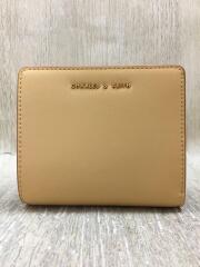 財布/レザー/YLW/2つ折り財布