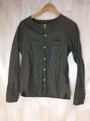 長袖シャツ/2/コットン/KHK/メンズファッション/SUNSREA/シャツ/ブラウン