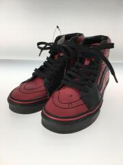 ハイカットスニーカー/24cm/RED/フェイクレザー/靴