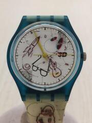 クォーツ腕時計/アナログ/WHT/IVO/スウォッチ