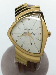 クォーツ腕時計/アナログ/GLD/BRW/H243010/ハミルトン
